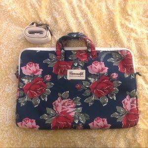 Canvaslife Large Floral Laptop Messenger Bag